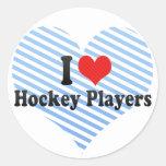 I Love Hockey Players Sticker