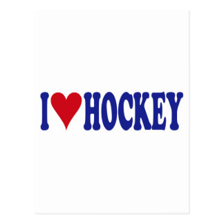 I Love Hockey Postcard