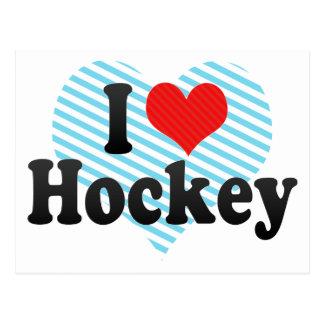 I Love Hockey Postcard
