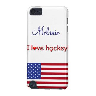 I Love Hockey!/Womens/Girls Hockey/U.S.A. iPod Touch (5th Generation) Case