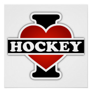I Love Hockey Perfect Poster