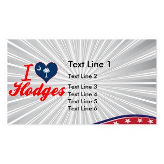 I Love Hodges South Carolina Business Card Template