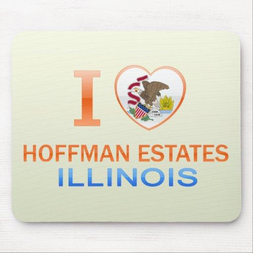 I Love Hoffman Estates, IL Mouse Pad