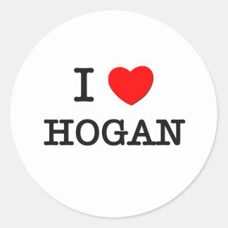 I Love Hogan Classic Round Sticker