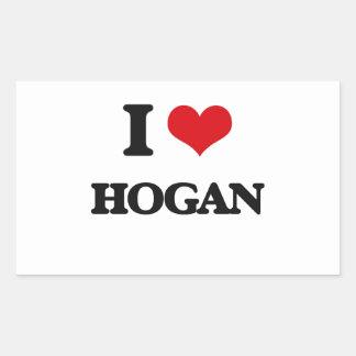 I Love Hogan Rectangular Sticker