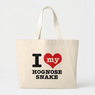 I Love Hognose snake Canvas Bag