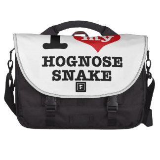I Love Hognose snake Laptop Messenger Bag