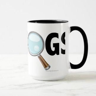 I Love Hogs Blue/Black Mug