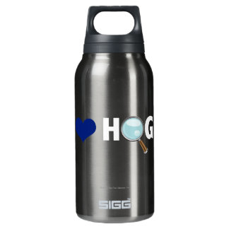 I Love Hogs Blue/White Insulated Water Bottle