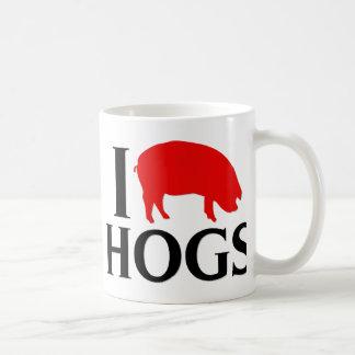 I Love Hogs Coffee Mug