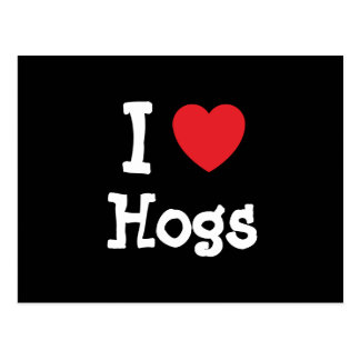 I love Hogs heart custom personalized Postcard