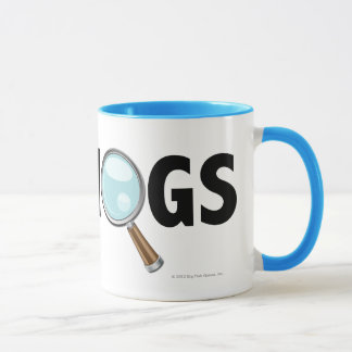 I Love Hogs Light Blue/Black Mug