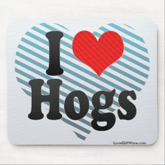 I Love Hogs Mouse Pad
