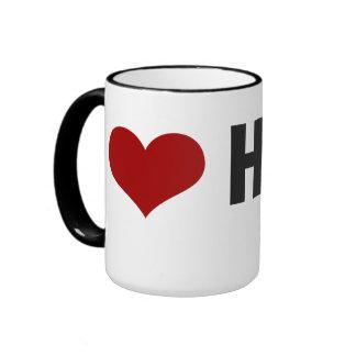 I Love Hogs Red/Black Ringer Mug