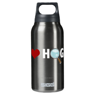 I Love Hogs Red/White Insulated Water Bottle
