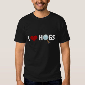I Love Hogs Red/White T-shirt
