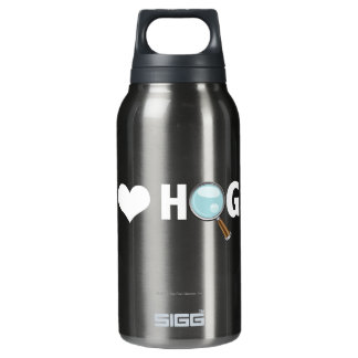 I Love Hogs White/White Insulated Water Bottle
