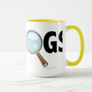 I Love Hogs Yellow/Black Mug