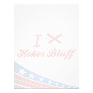I Love Hokes Bluff, Alabama Personalized Letterhead