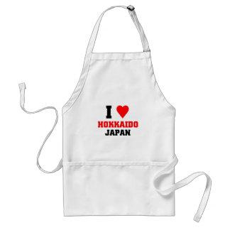 I love Hokkaido, Japan Adult Apron