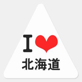 I Love Hokkaido Triangle Sticker