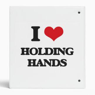 I love Holding Hands Vinyl Binders