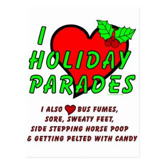 I Love Holiday Parades Postcard