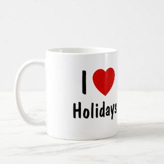 I Love Holidays Coffee Mug