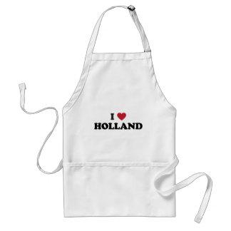 I Love Holland Adult Apron