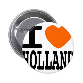 I Love Holland Pinback Button