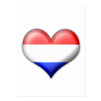 I love Holland heart Postcard