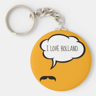 I Love Holland Keychain