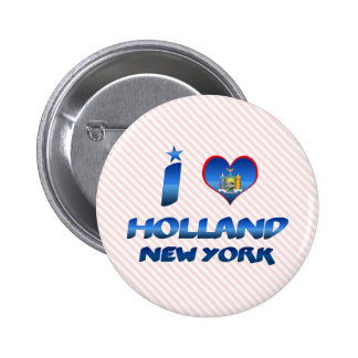 I love Holland, New York Pinback Buttons