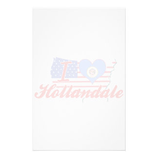 I Love Hollandale, Minnesota Personalized Stationery