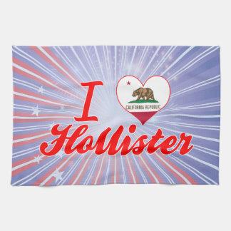 I Love Hollister, California Kitchen Towels