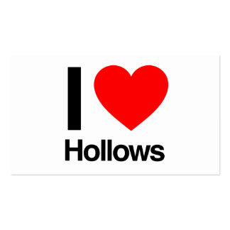 i love hollows business card template