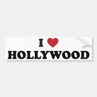 I Love Hollywood Bumper Sticker