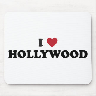 I Love Hollywood Mouse Pad