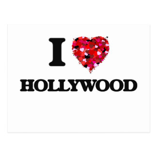 I love Hollywood New Jersey Postcard
