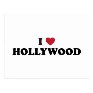I Love Hollywood Postcard