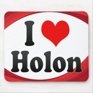 I Love Holon Israel Mouse Pads