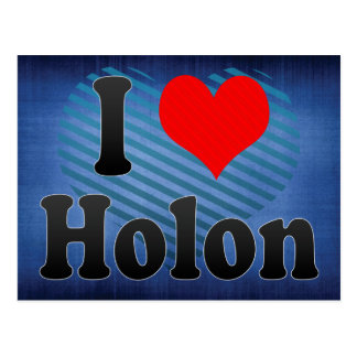 I Love Holon Israel Post Cards
