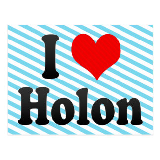 I Love Holon, Israel Postcard