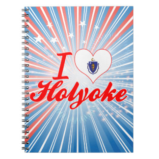 I Love Holyoke, Massachusetts Spiral Notebook