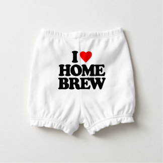 I LOVE HOME BREW DIAPER COVER