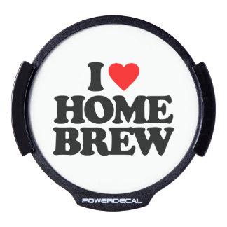 I LOVE HOME BREW LED WINDOW DECAL