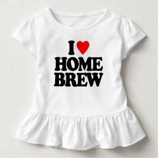 I LOVE HOME BREW TODDLER T-SHIRT