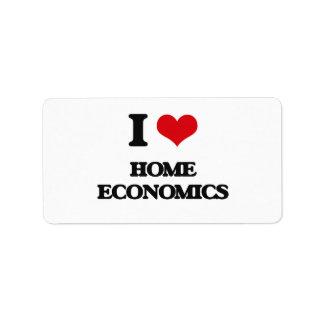 I love Home Economics Address Label