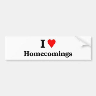 I love homecomings bumper sticker