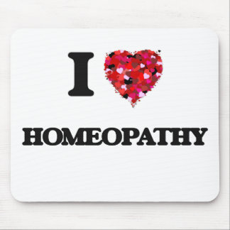 I Love Homeopathy Mouse Pad